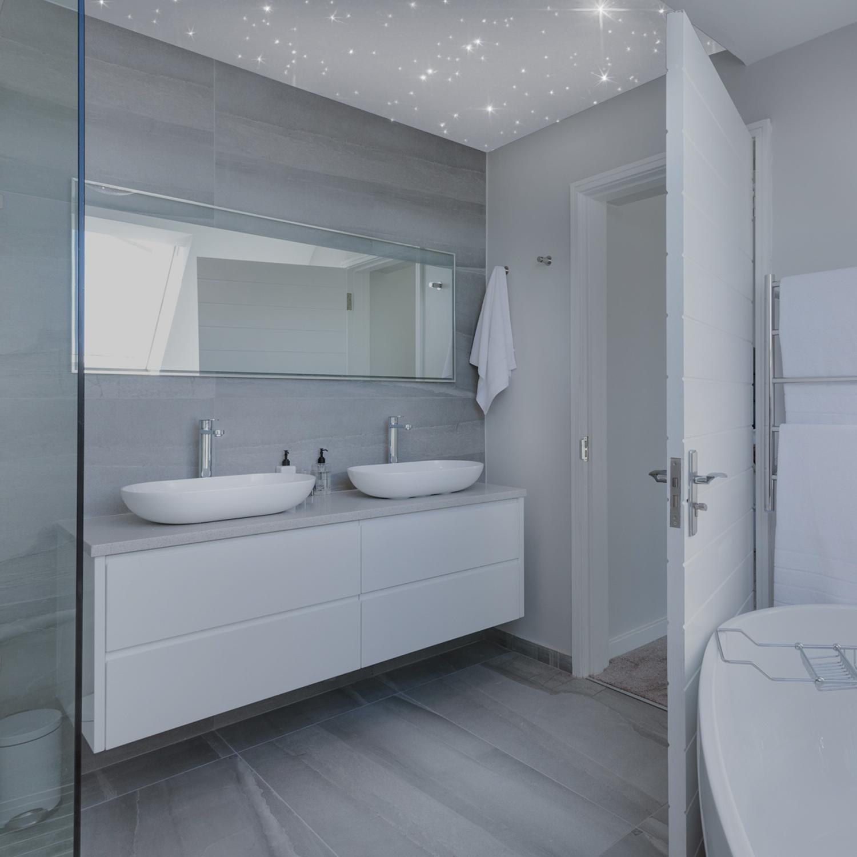 PIXLUM ⋆ LED Sternenhimmel Badezimmer ⋆ für Bad und Dusche